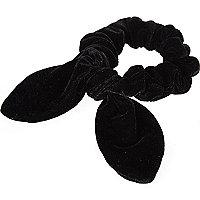 Girls black scrunchie