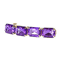 Girls purple diamante barrette clip
