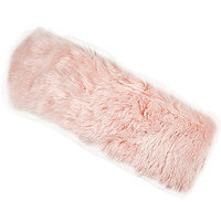 Girls pink faux fur headband