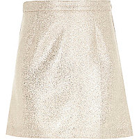 Girls gold glitter skirt