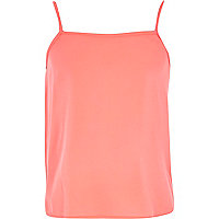Girls coral basic cami