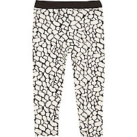 Mini girls jacquard print leggings