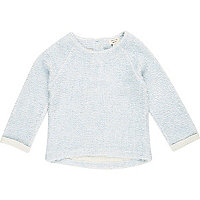 Mini girls blue long sleeve jumper