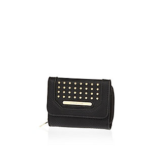Girls black stud purse