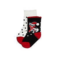 Mini girls Christmas pug socks 2 pack