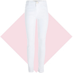 Girls white Molly jegging