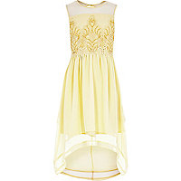 Girls yellow embellished dress