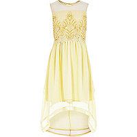 Girls yellow embellished dress