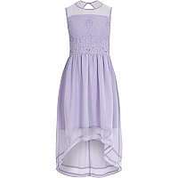 Girls purple embellished dress
