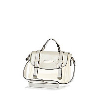 Girls white jelly satchel bag