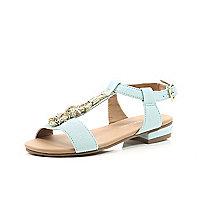 Girls blue rope sandal