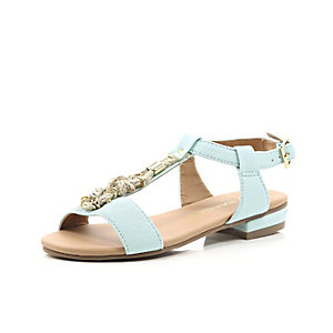 Girls blue rope sandal