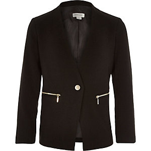 Girls black long sleeve blazer