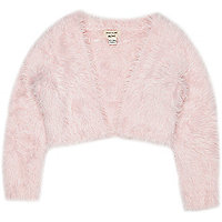 Mini girls pink eyelash shrug