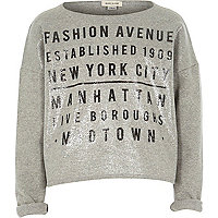 Girls grey fashion avenue sweatshirt