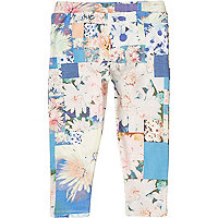 Mini girls floral ruffle bum leggings