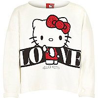 Girls white Hello Kitty sweatshirt