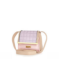 Girl purple lilac and pink cross body bag