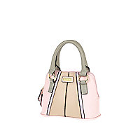 Girls light pink and grey tote bag