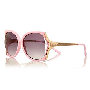 Girls pink oversized sunglasses