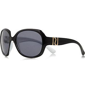 Girls black oversized sunglasses