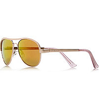 Girls pink frame tinted lens sunglasses
