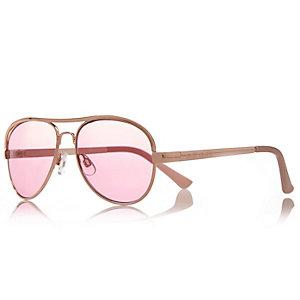 Girls pink aviator sunglasses