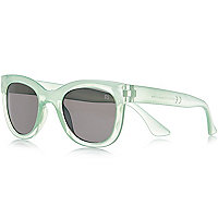 Girls light green retro sunglasses