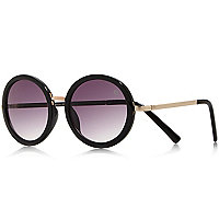 Girls black round sunglasses