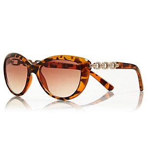 Girls brown cat eye tortoise shell sunglasses