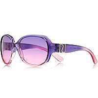 Girls purple oversized sunglasses