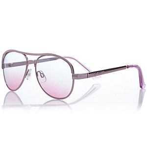Girls purple light tinted sunglasses
