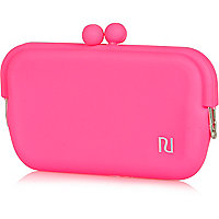 Girls pink jelly sunglasses case