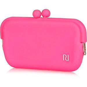 Girls pink jelly sunglasses case