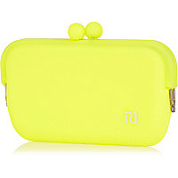 Girls yellow jelly sunglasses case