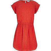 Girls red t-shirt dress