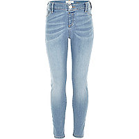 Girls blue light wash denim jeggings