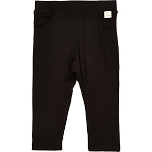 Mini girls black joggers