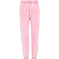 Girls pink heart joggers