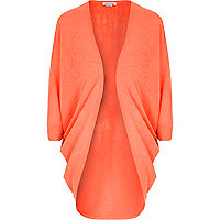Girls coral draped cardigan