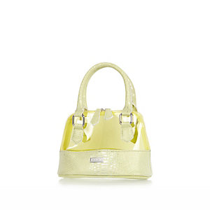 Girls light green jelly bag