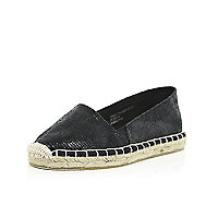 Girls black espadrilles