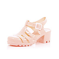 Girls coral heel jelly shoes