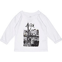 Mini girls white with love Paris t-shirt