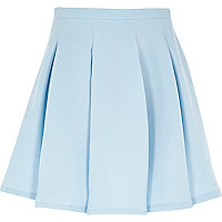 Girls light blue pleated skirt