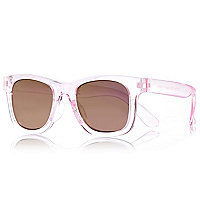 Girls light pink retro sunglasses