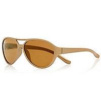 Mini girls gold aviator sunglasses