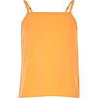 Girls plain orange cami top