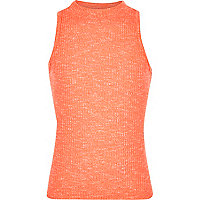 Girls coral ribbed turtle neck top