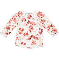 Mini girls Manhattan floral print sweatshirt